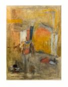 Marianne Gehrckens (20. Jh., Deutschland) Abstrakte Komposition, Erdfarben auf Papier auf