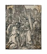 Albrecht Dürer (1471 Nürnberg - 1528 ebenda) Kreuztragung, Holzschnitt auf Papier, 1509, 12,6 cm x