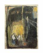 Marianne Gehrckens (20. Jh., Deutschland) Lichtblick, Erdfarben auf Papier, 123 cm x 89 cm Sichtmaß,