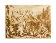 Philippe-Louis Parizeau (1740 Paris - 1801 ebenda) Putti im Freien, Holzschnitt auf Papier,