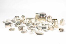 Großes Konvolut Pillendöschen 49-tlg., diverse Manufakturen, 800 Silber - 925 Silber oder Silber,