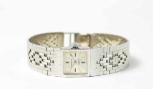 Bovenit Damenarmbanduhr, Automatik, Gehäuse 585 Weißgold, Durchmesser 15 mm, Armband 585 Weißgold,