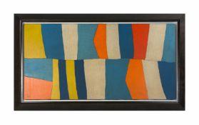 Tetsuo Mizu (1944 Japan) Kattegat, Öl auf Leinwand, 40 cm x 80 cm, unten links B.F. bezeichnet, 1997