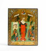 Ikone 'Gottesmutter aller Betrübten Freude mit dem Groschen' Zentral-Russland, St. Petersburg,