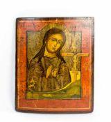 Ikone 'Gottesmutter Achtyrskaja' Russland, 19. Jh., Eitempera auf Holz, 37,5 cm x 30,5 cm,