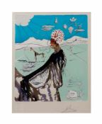 Salvador Dalí (1904 Figueres/Spanien - 1989 ebenda) (F) The Earth Goddess, the Chef, Farblithografie