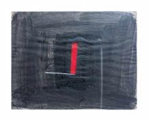Bernd Hahn (1954 Neustadt - 2011 Burgstädtel) Winkel auf Schwarz, Mischtechnik auf Papier, 49 cm x