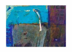 Elzbieta Kuraj (1956 Sosnowiec) Abstrakte Formen, Öl auf Platte, 45 cm x 59,5 cm, unten rechts 95