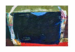Elzbieta Kuraj (1956 Sosnowiec) Abstrakte Formen, Öl auf Platte, 46,3 cm x 61,4 cm, unten rechts