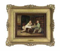 Benjamin Eugène Fichel (1826 Paris - 1895 ebenda) Die Bitte, Öl auf Holz, 16,5 cm x 21,5 cm, unten