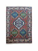 Yalameh Persien, Wolle auf Wolle, 201 cm x 114,5 cm, Gutachten von 2018 vorhanden