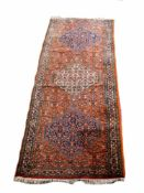 Bidjar Iran, Wolle auf Wolle, 281 cm x 94 cm, reinigungsbedürftig