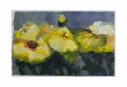 Klaus Fußmann (1938 Velbert) Gelbe Stiefmütterchen, Aquarell und Gouache auf Papier, 23,2 cm x 32,