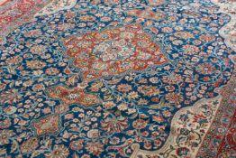 Ghom Persien, Korkwolle und Wolle, 340 cm x 234 cm, Gutachten von 2018 vorhanden