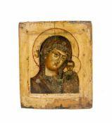 Ikone 'Gottesmutter von Kasan' Nordrussland, nach Expertise um 1700, Tempera auf Leinwand auf