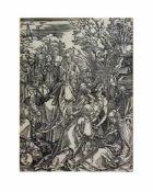 Albrecht Dürer (1471 Nürnberg - 1528 ebenda) Die Grablegung Christi, aus 'Die Große Passion',