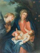 Unbekannter Meister (17. Jh.) Maria mit Kind, Öl auf Holz, 35 cm x 27,5 cm, unsigniert, restauriert
