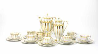 Kaffeeservice für 7 Personen 25-tlg., Fürstenberg, 20. Jh., Form 'Grecque', Dekor 'Athena',