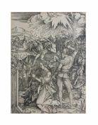 Albrecht Dürer (1471 Nürnberg - 1528 ebenda) Die Enthauptung der Heiligen Katharina, Holzschnitt auf