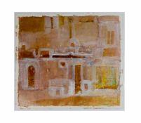Jürgen Habicht (1949 Lienen/Tecklenburg) Paar abstrakte Kompositionen, Acryl auf Papier, 42 cm x