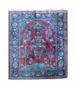 Keshan Wolle auf Wolle, 200 cm x 134 cm, Gutachten vorhanden