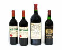 Konvolut Rotweine4-tlg., AOC, Trouiseme Grand Cru, 3 0,75 l und eine Flasche 1,50 l, Füllstand