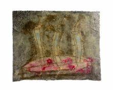 Pierre Marie Brisson (1955 Orleans) (F)Abstrakte Komposition, Farbcarborundum auf Papier, 58 cm x 77
