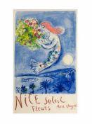 Marc Chagall (1887 Witebsk - 1985 Paul de Vence) (F)Nice Soleil fleurs (Die Engelsbucht),