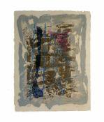 Pierre Marie Brisson (1955 Orleans) (F)Abstrakte Komposition, Farbcarborundum auf Papier, 66 cm x 51