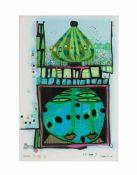 Friedensreich Hundertwasser (1928 Wien - 2000 Brisbane) (F)10002 nights Homo Humus come va how do