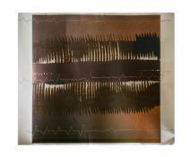 Heinz Mack (1931 Lollar) (F)Komposition in Braun, Farboffset/Farbserigrafie auf Bütten, 103,5 cm x