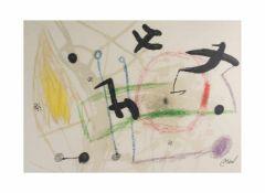 Joan Miró (1893 Barcelona - 1983 Palma de Mallorca) (F)Blatt 5 aus 'Maravillas con variaciones