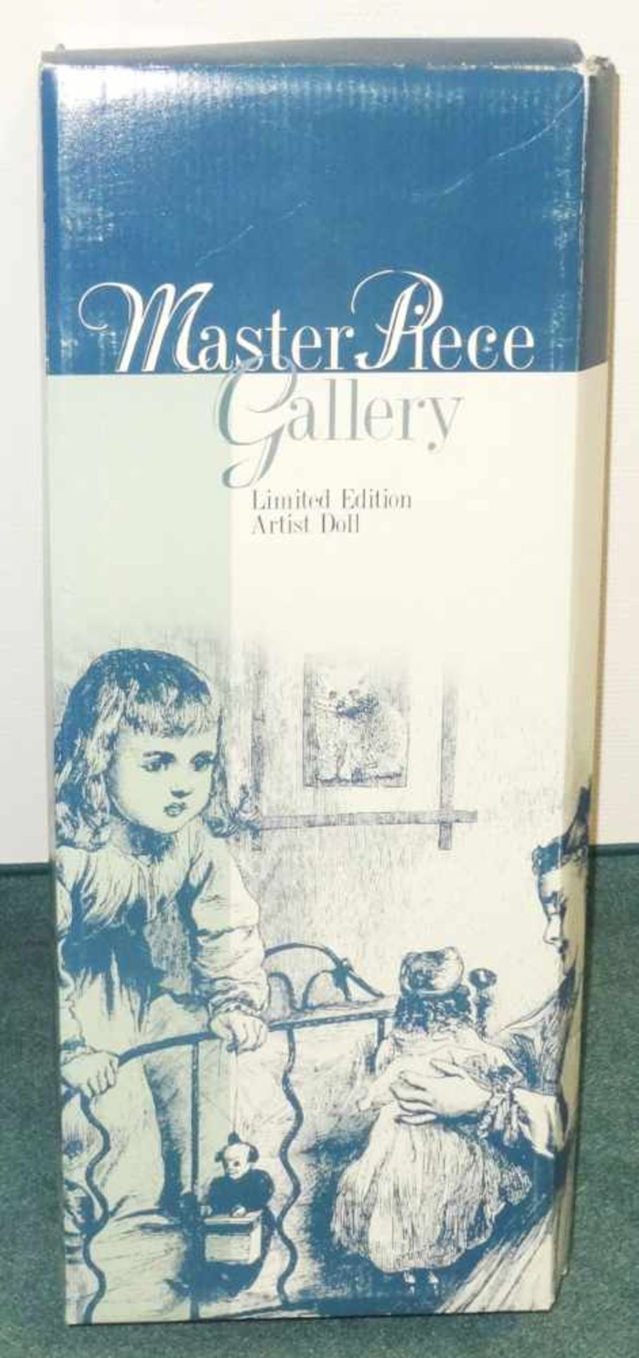 Sammlerpuppe ltd. Edition - Nina- in Freizeitbekleidung mit kleiner Puppe, Artist Doll Linda - Bild 2 aus 5