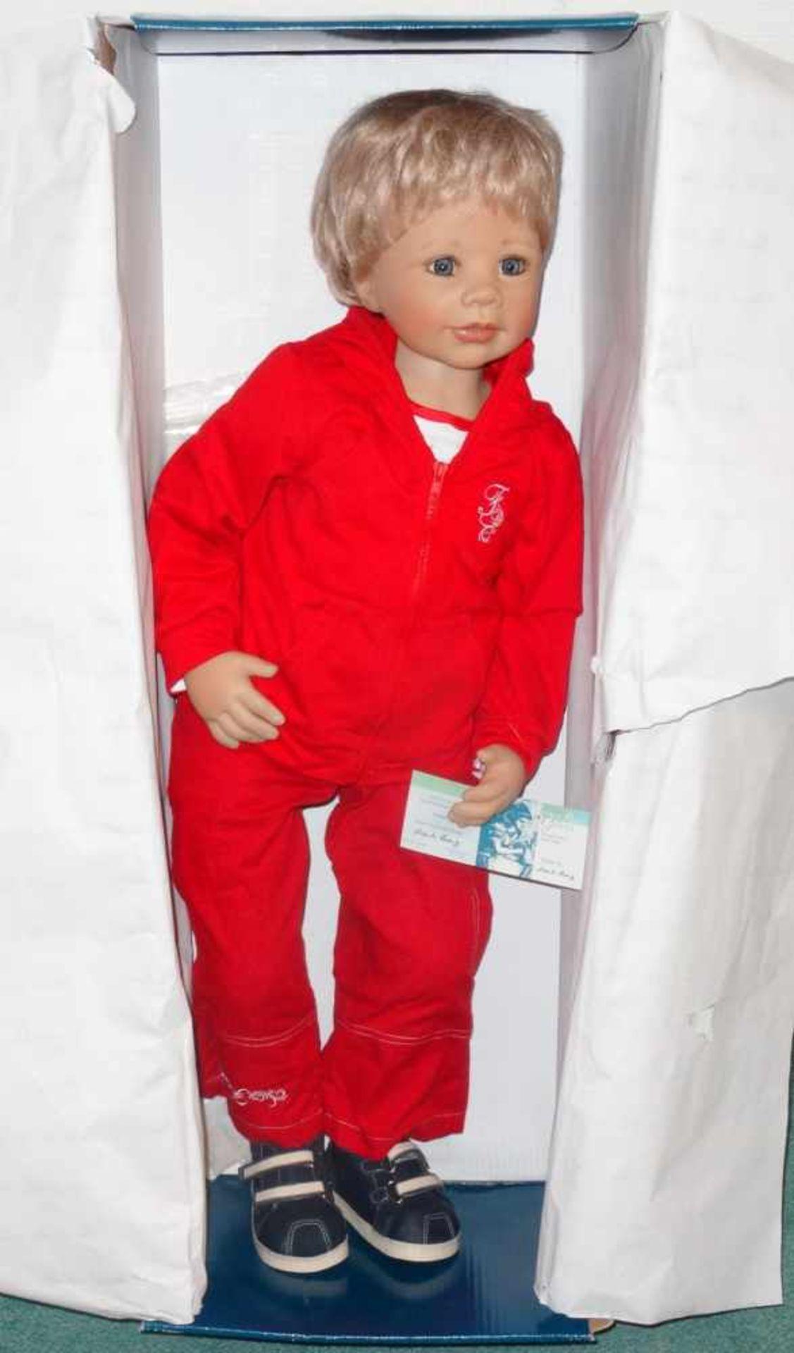 Sammlerpuppe ltd. Edition - Fabian - in Freizeitbekleidung, Artist Doll Linda Valentino-Michel, Höhe