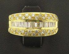 Damenring 750 Gold Brillant / Diamanten sehr schöner Brillant / Diamantring in 750 Gold 18k,