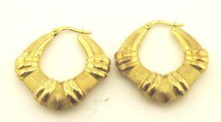 Creolen 333 Gold Durchmesser ca. 28mm mit Bügelverschluß, Gewicht ges. ca. 3,0g