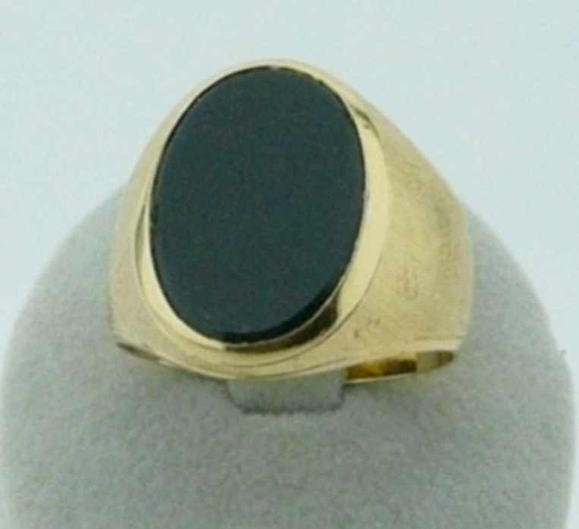 Herrenring Jaspis 750 Gold Jaspis Herrenring in 750 Gold, Jaspis ca. 13 X 18mm, Gewicht ca. 10,4g
