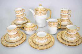 Hutschenreuther Prunk Kaffeeservice 12 PersonenHutschenreuther Kaffeeservice, Prunk Gold und Weiß,