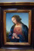 Porzellanmalerei Madonna Giovanni BevilacquaHochwertige Porzellanmalerei einer Madonna mit zum Gebet