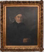 """ANTON KAULBACH:""""PORTRÄT EINES GEISTLICHEN"""", Öl auf Leinwand, gerahmt Anton Kaulbach (1864 - 1930)."""