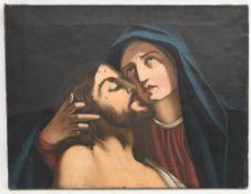 VESPERBILD, Öl/Leinwand, ohne Rahmen, nicht signiert und datiert. 67 x 50 cm.