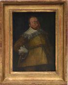 Portrait von König Gustav II Adolf von Schweden, Öl auf Holz, gerahmt, Mitte 18. Jhd.. 26 x 20,5/ 20