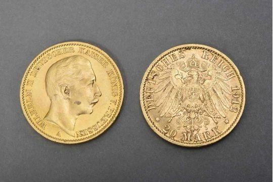 2 Gg 900 M252nzen Quot20 Mark Wilhelm Ii Deutscher Kaiser K