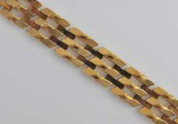 ARMBAND breiteres durchbrochenes Band aus polierten Rechteckgliedern, mit Steckverschluss und