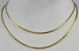 LANGE KETTE mit Ringverschluß, Gelbgold 14ct, 11,4g, L 70cm