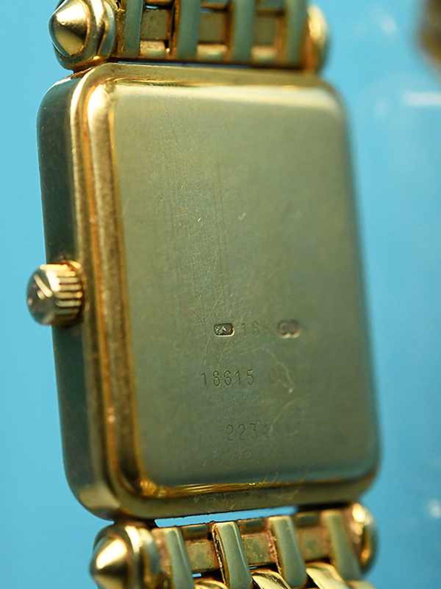 Damenarmbanduhr mit Brillanten, zusammen ca. 0,5 ct, bezeichnet Baume & Mercier, Geneve, 20. Jh. - Bild 4 aus 7
