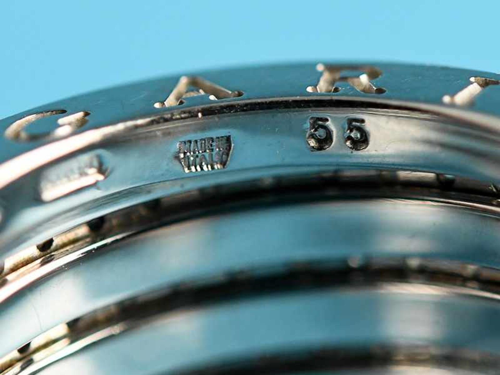 """Ring mit Brillanten, zusammen ca. 1 ct, BVLGARI, Modell """"B Zero1"""", 20. Jh. 750/- Weißgold. - Bild 4 aus 4"""