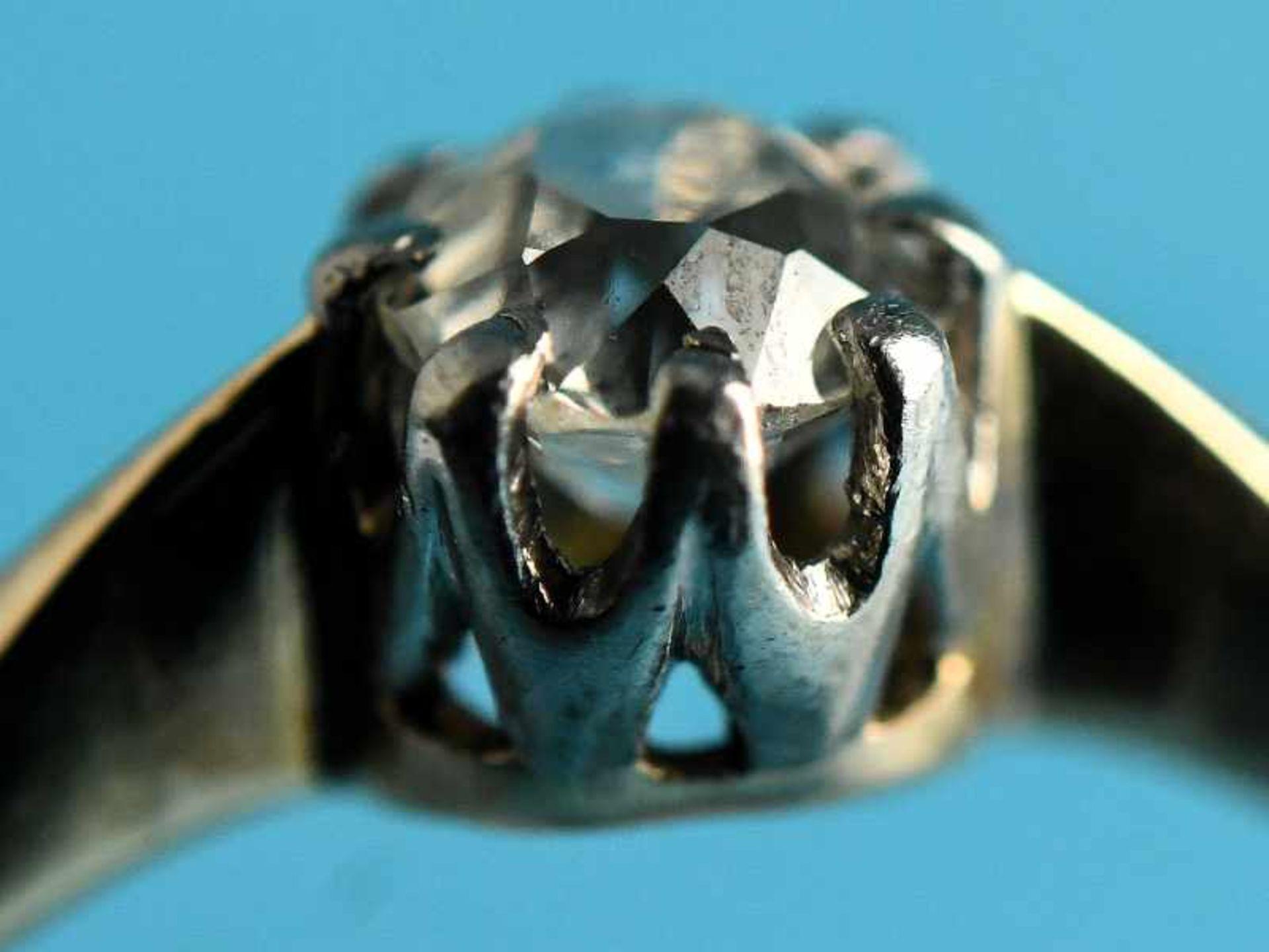 Ring mit Altschliff-Diamant ca. 0,4 ct, Anfang 20. Jh. 585/- Gelb- und Weißgold. Gesamtgewicht ca. - Bild 4 aus 4