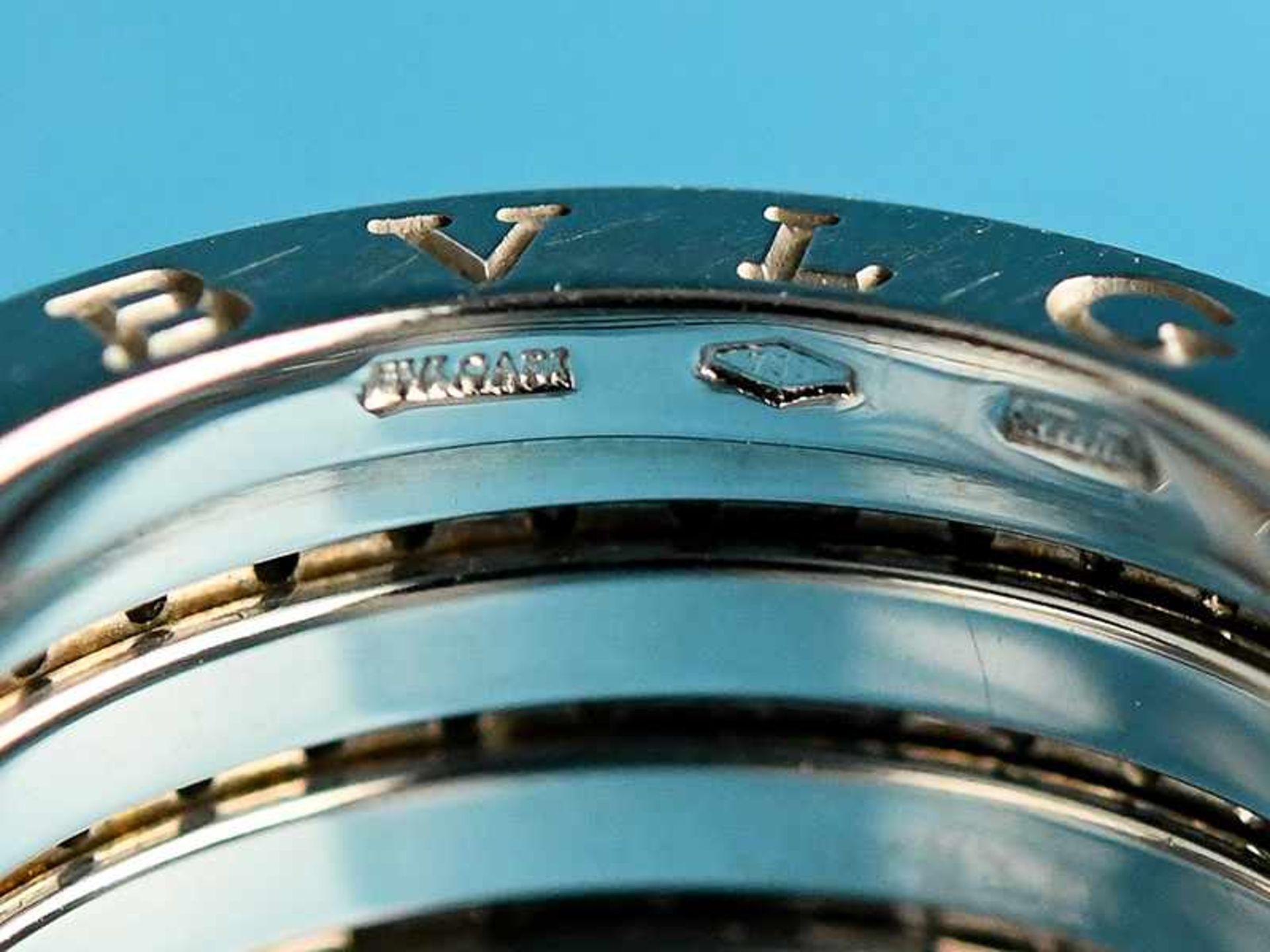 """Ring mit Brillanten, zusammen ca. 1 ct, BVLGARI, Modell """"B Zero1"""", 20. Jh. 750/- Weißgold. - Bild 3 aus 4"""