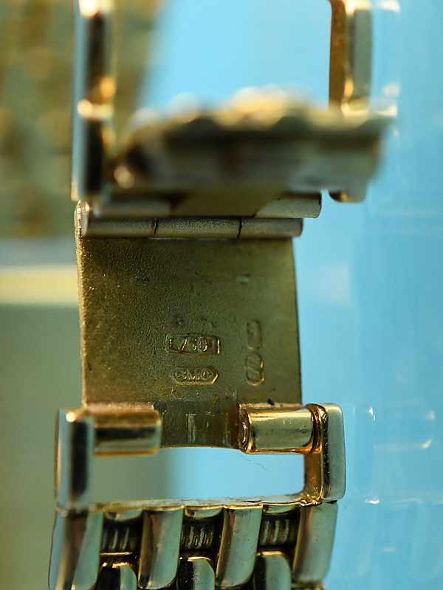 Damenarmbanduhr mit Brillanten, zusammen ca. 0,5 ct, bezeichnet Baume & Mercier, Geneve, 20. Jh. - Bild 3 aus 7